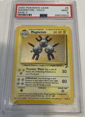 PSA 9 MINT MAGNETON HOLO Pokemon Base Set 2 9/130