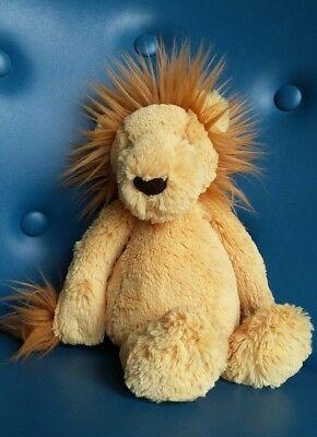 """Jellycat Lion Soft Toy Comforter Doudou Bashful 11"""" GAP22"""