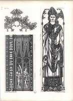 Gothic Lubeck Cathedral Chapel Engraving Monumental Brass Jean De Mul -  - ebay.co.uk