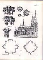 Gothic Lubeck St Mary's Church Profiles Bosses Exterior View -  - ebay.co.uk