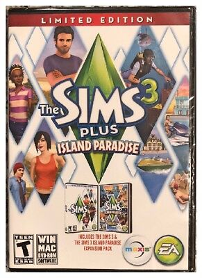 The Sims 3 Plus Island Paradise Limited Edition Pc Mac Factory Sealed New Nice