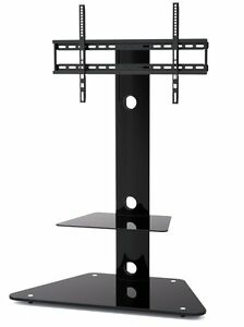 Glass TV Stand With Bracket FOR 30 TO 55 Inches Plasma LCD LED 3D TV