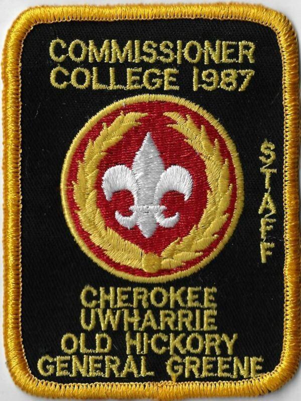1987 Comm. College Staff Cherokee Uwharrie Old Hickory Gen. Greene YEL Bdr. [X-2