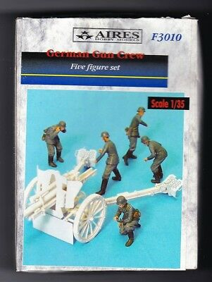 AIRES HOBBY MODELS F3010 GERMAN GUN CREW 5 FIGURES 1/35 RESIN KIT