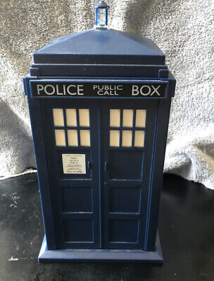 "Doctor Who Tardis Cookie Jar - Lights & Plays Sounds 10""x5"""