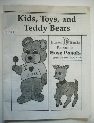 Easy Punch book 1 designs Patterns for Punch Embroidery Kids Toys Teddy Bears