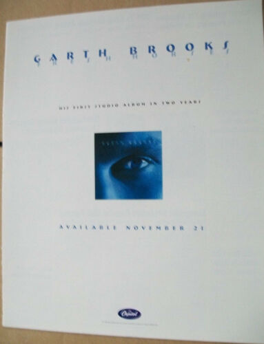 Garth Brooks 1995 Ad- Fresh Horses   Capitol