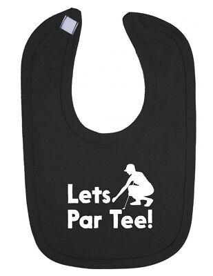 Lets Par Tee Golf Boys Girls Newborn Toddler Bib ()