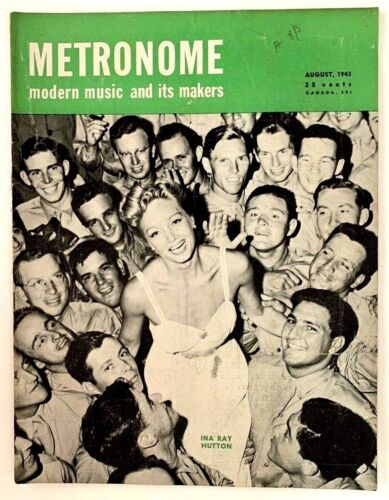 Vintage Metronome Music Magazine August 1943 Ina Ray Hutton