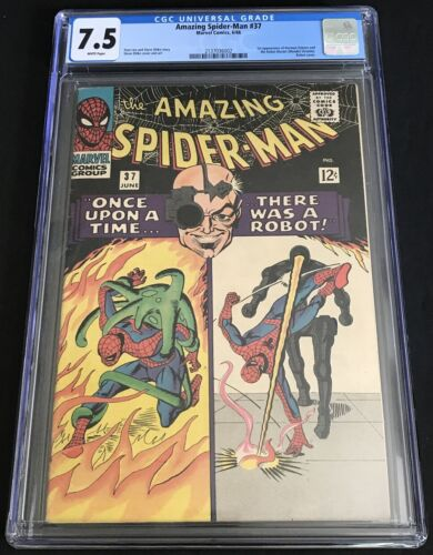 Amazing Spider-Man #37 CGC 7.5 VF- WH Pages 1st Appearance Norman Osborn