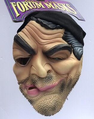 Adult Latex Stubby Mask Man Hat Robber Scruffy Thief Novelties Halloween New NWT