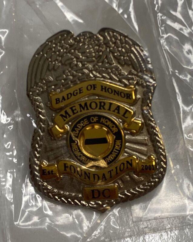 Police Badge Of Honor Memorial Foundation  Lapel Uniform Pin Washington DC