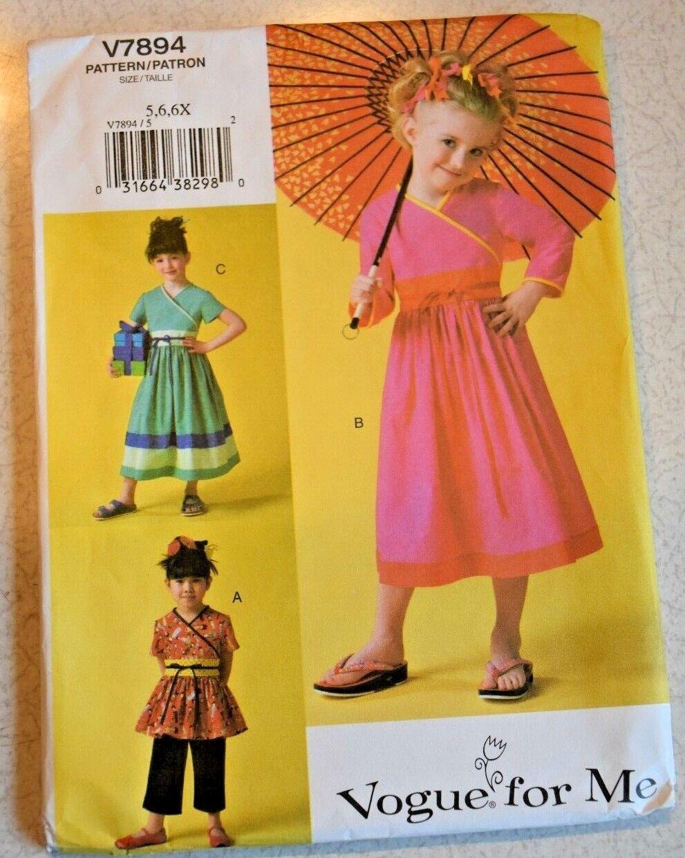 v7894 pattern toddler dress top pants size