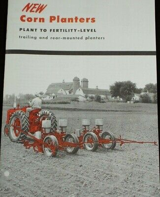 Ih Mccormick Planters Brochure Mounted 2pt Fast Hitch Trailing Farmall Mid 50s