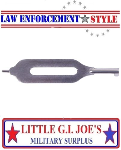 """Stainless Steel Open Slotted Handcuff Key 3"""" Security Cuff Key Rothco 11092"""