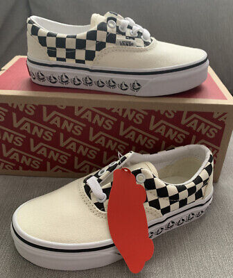Vans Era, Cream And Black, Size U.K. 12 Junior