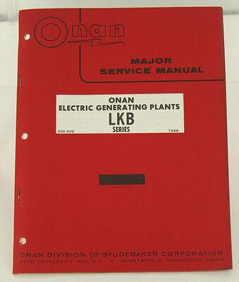Vintage Onan Lkb Series Generator Genset Major Service Manual