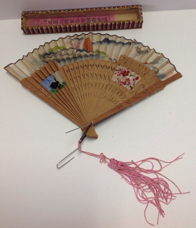 Antique Wang Sin Kee Shop Shanghai China FAN hand painted#2 See Details
