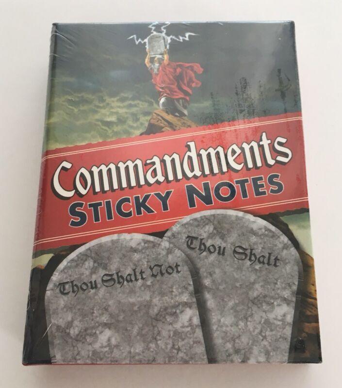 Commandments Sticky Notes Booklet Thou Shalt Religion Church