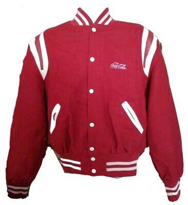 Vintage Holloway COCA COLA Red Wool Varsity Jacket Men's XL