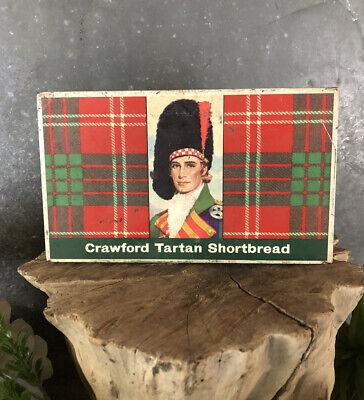 Vintage Crawford Tartan Shortbread Tin Isleworth Middx. Liverpool Great Britain