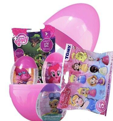 """Giant jumbo 8"""" PLASTIC SURPRISE EGG Princess, My Little Pony, Trolls, Shimmer Sh (Jumbo Plastic Egg)"""