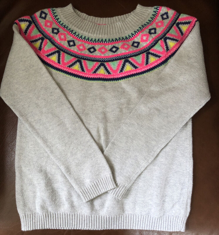 Carters Girls Sweater Size 8 Gray