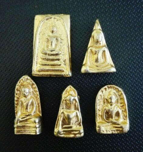 Buddha Leklai 5 Benjapakee Phra Somdej Thai Magic Talisman Amulet Collectible