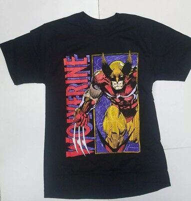 Marvel Comics X-men Wolverine Distressed Vintage Graphics Men's T-Shirt - Wolverine T Shirt