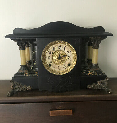 Antique Seth Thomas Adamantine Mantle Clock ~1900s