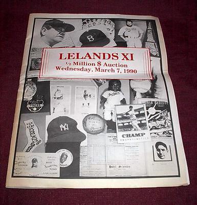 LELANDS AUCTION XI    1990 PROMO BOOK SPORTS MEMORABILIA