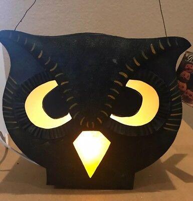 Bethany Lowe Halloween Owl Lantern--retired- Light Cord Included