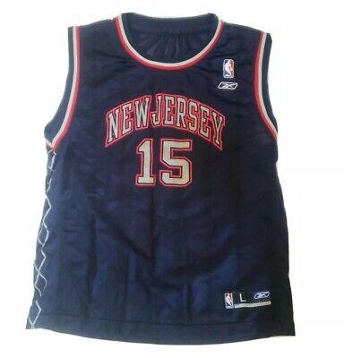 Reebok Vince Carter New Jersey Nets Jersey Youth L NBA Basketball Jersey VG Nice