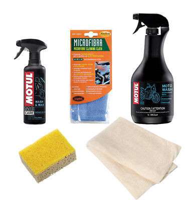Cleaning Kit Motorrad Motul + Lamp cloths and sponges Kombi