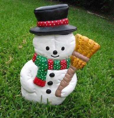 VTG Frosty The Snowman Light Up Ceramic Mold Christmas Decoration Hand Made USA