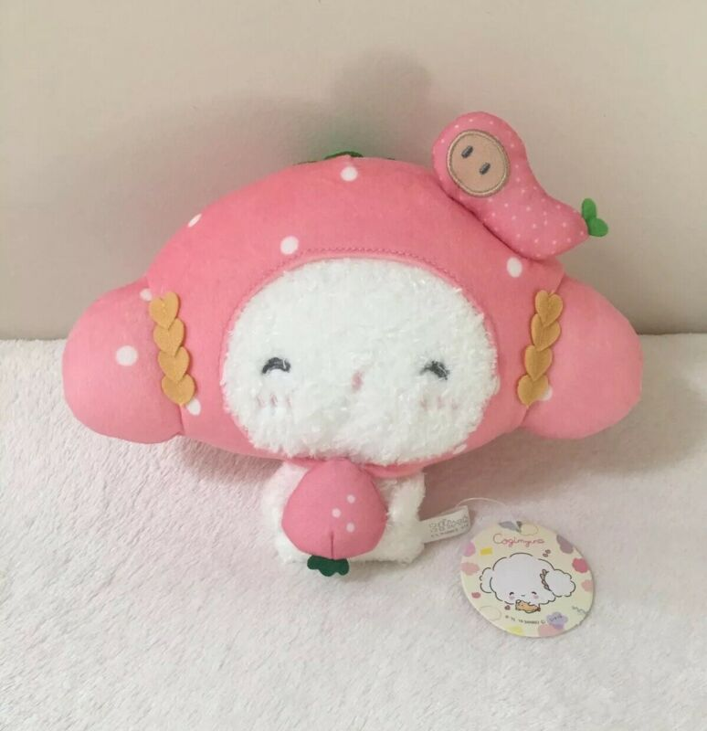 Sanrio Japan Cogimyun Strawberry Plush Kawaii Flour Fairy Tempura Collectible