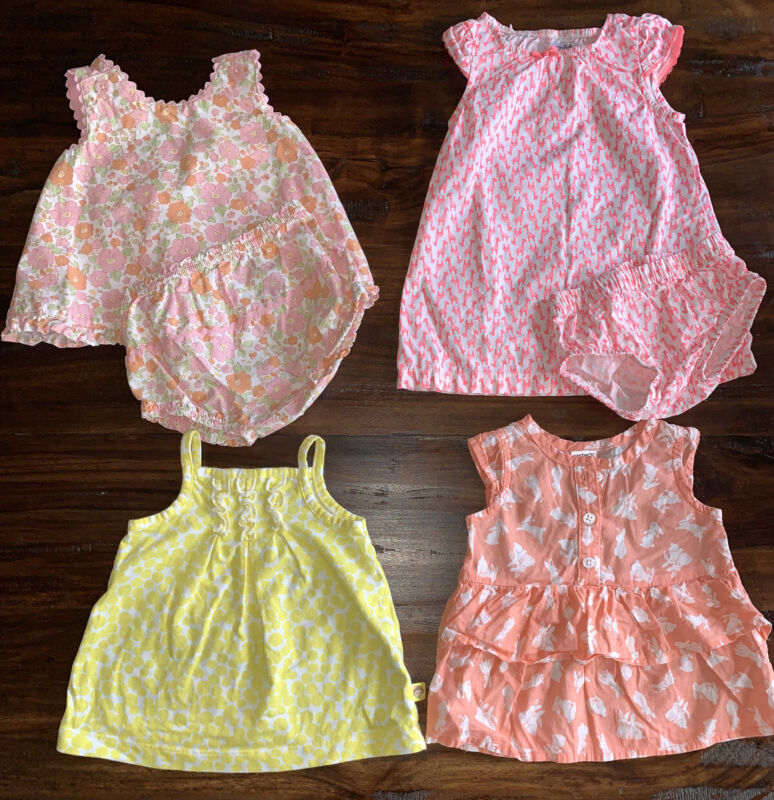 Lot Of Mixed Baby Girl Spring, Summer Clothes Size 3 Months Gently Worn