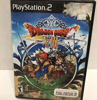 Dragon Quest VIII 8 (Sony Playstation 2 ps2) No manual
