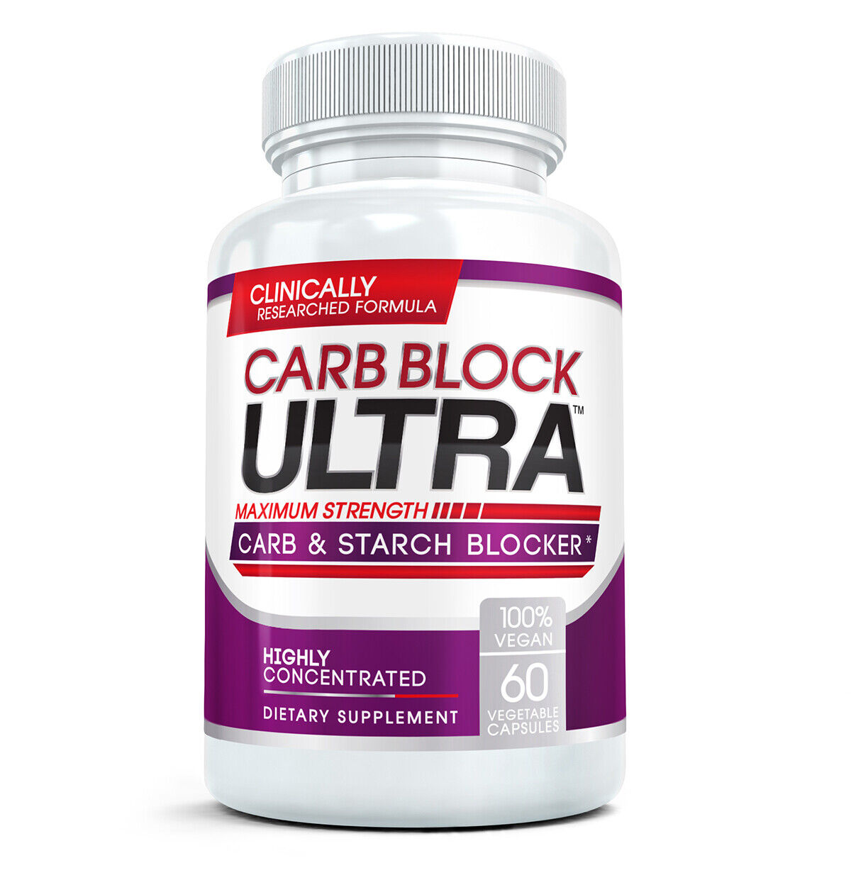 Carb Block Ultra - Highly Concentrated Carbohydrates & Starch Blocker (60 Caps)