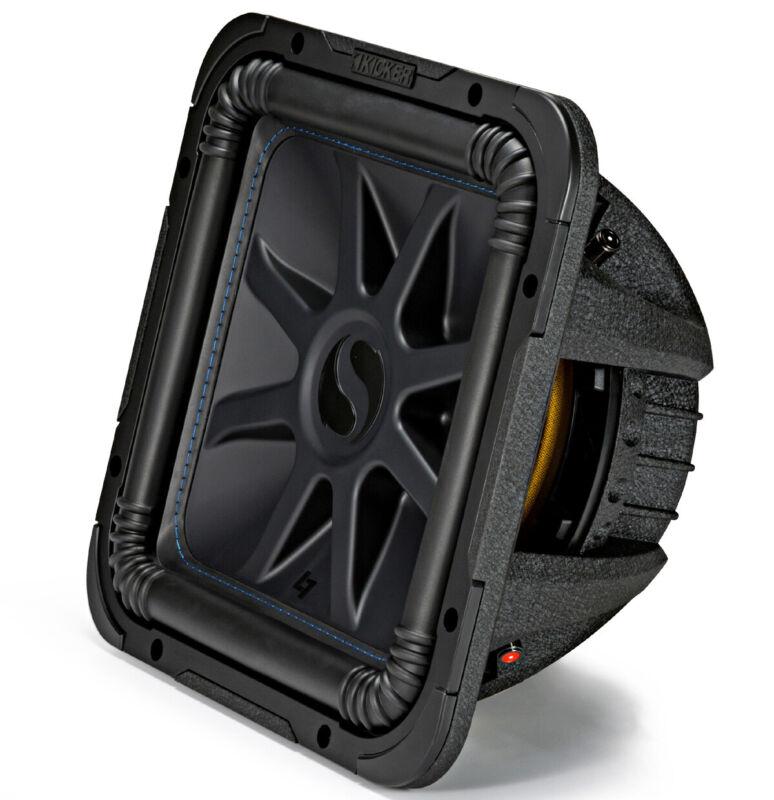 Kicker L7S12 Car Audio Solo-Baric 12 Subwoofer Square L7 Dual 2 Ohm Sub 44L7S122