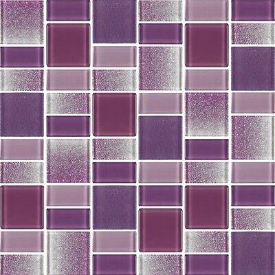 - Fusion Purple Glass Mosaic Tiles - Backsplash/Bathroom Tile - Squares/Rectangles