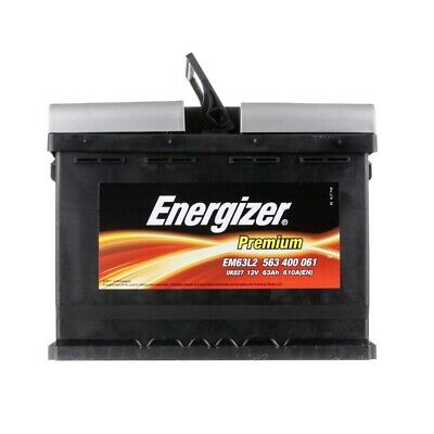 Autobatterie ENERGIZER 12, V 63, Ah 610, A/EN EM63-L2 L 242mm B 175mm H 190mm