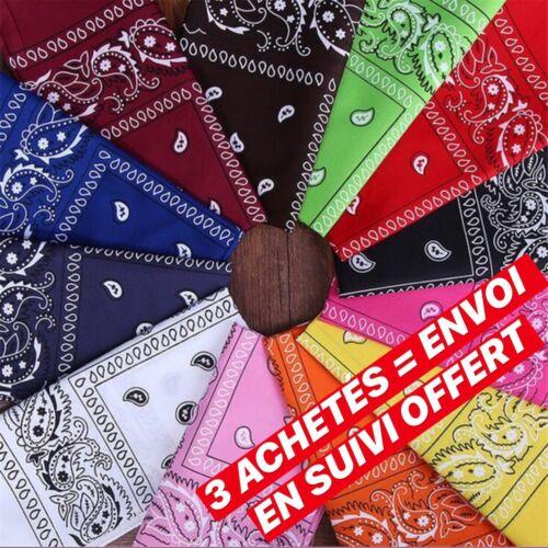 Bandana en coton coloris pour hommes et femmes à motif