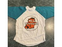 4T NEW OLD STOCK Vintage 1978 Garfield Long Sleeve Tee Green /& White Toddler Sz