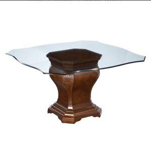 """Dining /breakfast table from Bombay.. 54"""" glass top"""