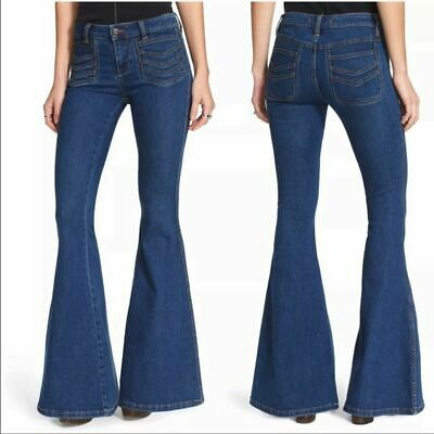 ie Bell Bottom Stella Flare Boho Chic JEANS Size 25 x 34