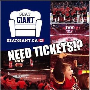 CALGARY FLAMES PLAYOFF TICKETS FROM $99 CAD!!!
