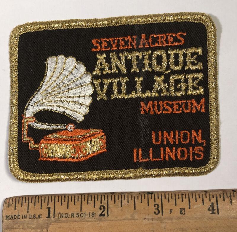 Vintage Seven Acres Antique Village Museum Patch Union Illinois Travel Souvenir