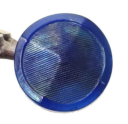 "Antique Cobalt Blue Glass Leo Popper Button…7/8"", Medium"