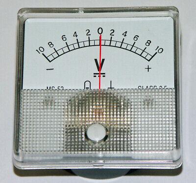 Dc Panel Mount Meter 10-0-10 Volt Dc